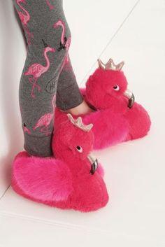 Pink Flamingo Slippers (Older Girls)