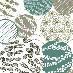 'Floral and Foliage Circles' by Rachael Taylor