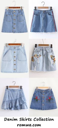 denim skirts collection 2017 - romwe.com