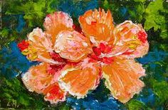oil paintings of hibiscus - Google Search