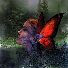 Pond Elf Fairy by G Berry Magic Wings, Pond Design, Medium Art, The World's Greatest, Wiccan, Mixed Media Art, Fine Art America, Mystic, Digital Art