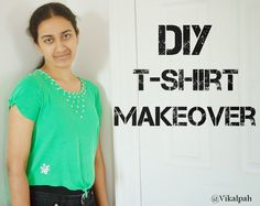 Have boring plain t-shirt??Here is a simple way to give a new look to them.