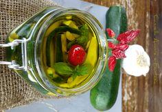 zucchine sott'olio alla siciliana senza cottura