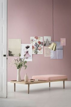 Home decor and design inspirations in Pantone 2016 interiors in Rose Quartz and Serenity