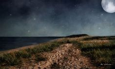"""""""Stars and Sand"""" ~ © 2016 RC deWinter ~ Peace and tranquillity reign on this beautiful summer night at Silver Bay, Lake Superior, Minnesota. Available in a variety of media, sizes and configurations."""