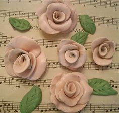 The Polka Dot Closet: How To Make Polymer Clay Roses