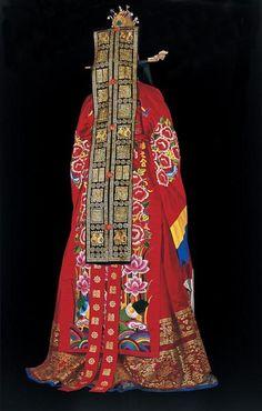 .Korean Wedding garb, reverse view