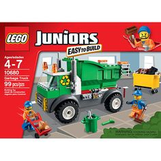 Lego Juniors 10680 Garbage Truck Set New/Sealed!!! 99pcs Easy to Build! Ages 4+ #Lego