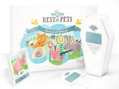Para enterrar a nuestras pequeñas mascotas  Rest in Pets - The Dieline -