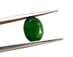 1.34ct Natural Fine Gem Quality Translucent Brazilian Rare  Emerald Gemstone