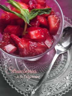 The Teal Tadjine   A Mélange of Cooking and Culture in the Algerian Mediterranean Basin and Beyond: Fraise à la Algérienne   Strawberries Al...