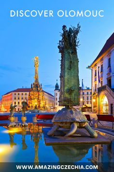 The Magnificent City of Olomouc in Moravia - Amazing Czechia World Heritage Sites, Czech Republic, Statue Of Liberty, Cities, Wanderlust, Europe, Mansions, House Styles, Amazing