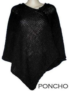 Poncho pattern - gives measurements for size of each rectangle which is useful
