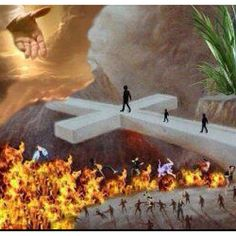 It's a FATAL MISTAKE for a man to reject Christ. Accept Christ while you're on Earth. He is the ONLY way to Heaven. All other ways leads to Hell. Image Jesus, Jesus Christus, Way To Heaven, Heaven And Hell, Jesus Is Coming, Prophetic Art, Jesus Art, Jesus Pictures, Heaven Pictures