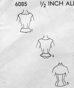 1950s Glam Blouses Pattern 3 Styles Scalloped Neckline, Peplum  or Halter Blouse Evening Wear Blouses Advance 6085 Vintage Sewing Pattern