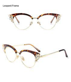 3ed52dcd2a Ralferty Brand Women S Rhinestone Royal Cat Eye Glasses Vintage Eyewear  F97329