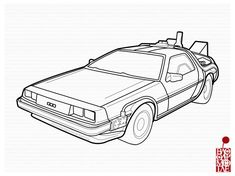 Delorean Backtothefuture Ver By Bloodymoogle On Deviantart Back To The Future Tattoo Delorean Car Drawing Easy