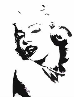stencil marilyn - Buscar con Google