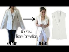 Thrifted Transformation:Sleeveless Jacket (Topshop Inspired) - YouTube