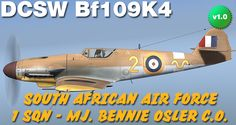Bf109 skin ,  you can download it here: http://www.lockonfiles.com/files/file/3036-dcs-bf-109-k4-rafsa-af-1-sqn/