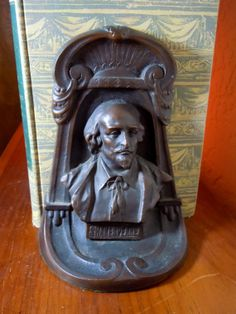 Antique Bronze Bookends Shakespeare c. 1925 by GypsyBellsAntiques, $350.00