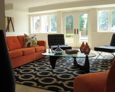 Contemporary Family Room Black Sofa Design, Pictures, Remodel, Decor and Ideas - page 13