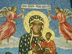 Our Lady of Czestochowa- my favorite icon of the Blessed Mother (with her scarred, yet royal, face) Our Lady Of Czestochowa, Madonna Photos, Juan Pablo Ii, Blessed Mother Mary, Famous Black, Sacred Feminine, Madonna And Child, Celestial, Before Us