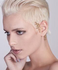 Statement Gold Tree Ear Cuff  #goldearcuff #statementearcuff #earcuff #woodlandearcuff #leavesearcuff #treeearcuff #woodland #weddingjewelry #bridaljewelry by shirliclassicjewelry