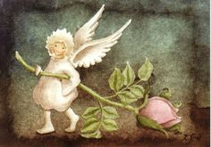 . Art Illustrations, Illustration Art, Elsa Beskow, Fairy Homes, Woodland Creatures, Fairy Land, Pixies, Elves, Flower Art