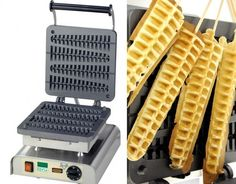 Waffle maker puts waffles on a stick. Best ever.