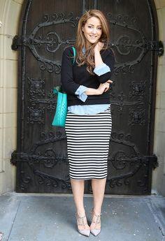 Strips on my midi dress