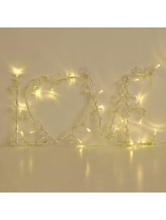 Vintage 'LOVE' Shaped Wall Hanging Light with 20 Warm White LEDs - Battery Operated