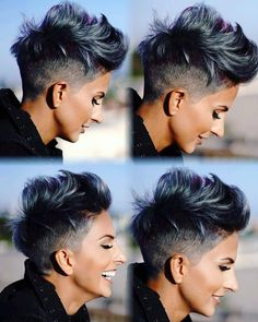 45 Best Short Hair Styles for Thick Hair 2019 – Styles Art - Short Hairstyles: Best Short Hair Cuts & Styles 2019 Short Hairstyles For Thick Hair, Haircut For Thick Hair, Short Pixie Haircuts, Short Hair Cuts For Women, Pixie Hairstyles, Curly Hair Styles, Undercut Short Hair, Women Pixie Haircut, Edgy Short Haircuts