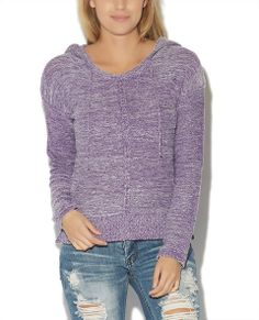 """Stylish, comfy, and essential pullover hoodies, features a sponge knit  body, center seam, attached hood with adjustable drawstrings, and ribbed  trim with split sides.   Model is 5'10"""" and wears a size small.      60% Nylon / 30% Rayon / 10% Spandex      Machine Wash     Imported"""