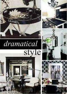 Dramatical and stylish black/white interior design
