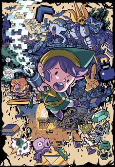 Oh my! This damaging piece, ZELDA! by 8bitmaximo, looks amazing. Love the style used here! http://8bitmaximo.tumblr.com