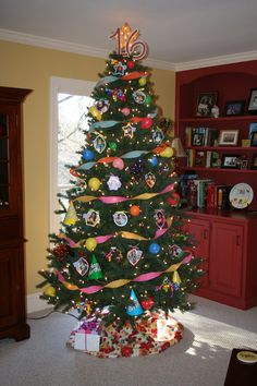After taking down the Christmas ornaments, we re-decorated our tree for our daughter's 16th birthday.  Now our other children want birthday trees of their own.  One's birthday is in late November, so maybe, but the other is in October.  May have to come up with something different for her!