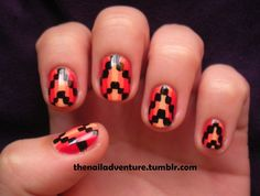 thenailadventure:  Autumn Tribal  I know it's December and...