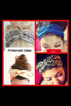 DIY Head Scarf... Love Pinterest!