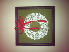 Button Xmas wreath!