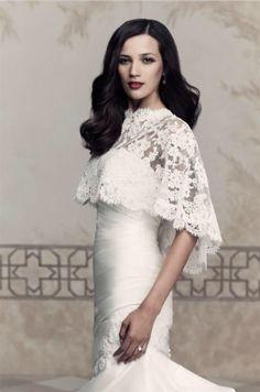 Couture wedding cape