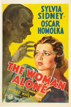 """Sabotage (US title: """"The Woman Alone""""). 1936"""