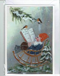 Grüße - Grußkarte - Weihnachtsgeschichte - ein Designerstück von Vogelmalerin bei DaWanda