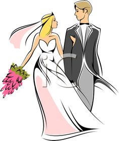 Wedding Clipart - Bride and Groom