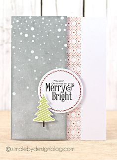 Gorgeous Christmas card by Joy Taylor using Simon Says Stamp Exclusives. October 2013