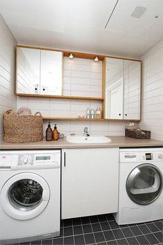 Bolig til salgs Tv Unit Interior Design, Laundry Room, Washing Machine, Home Appliances, Real Estate, Kitchen, House Appliances, Cooking, Real Estates