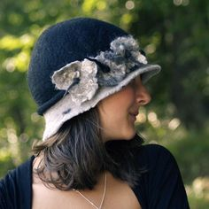 1920's style nuno felt hat by jannio on etsy