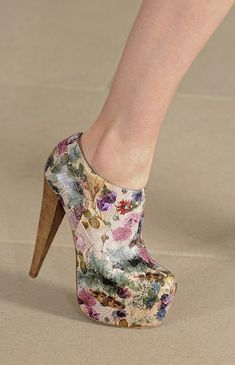 floral booties at preen.