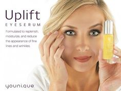 """Our internationally patented product is just released!!! Ahhhhhhhhhhh. It is AMAZING! No....REALLY...it is revolutionary. DO NOT spend $300 on a so called """"miracle product"""". This is our Uplift Eye Serum. It costs $65, and you need just a drop each application. It is FABULOUS for puffy, saggy bags under the eyes.    #eyeserum #antaging #allnatural #nomorewrinkles #eyes #aging #best #moneybackguarantee https://www.youniqueproducts.com/lookyoung4ever/products/view/US-12201-01#.VASK8sVdVc0"""