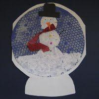 Snowmen snowglobes with bubble wrap print